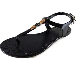 Coach Sandals Jelly Black Piccadilly